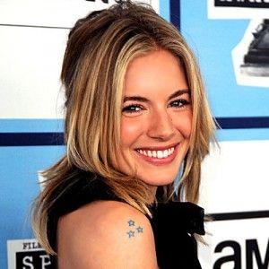 Sienna Miller star tattoo - nice placement