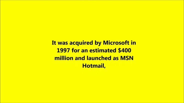 Msn Hotmail changed it's name to outlook in 2013. There are hundreds of millions of Hotmail users from every country in the world. Because Hotmail is free to..https://www.youtube.com/watch?v=MQhroJBUxGM