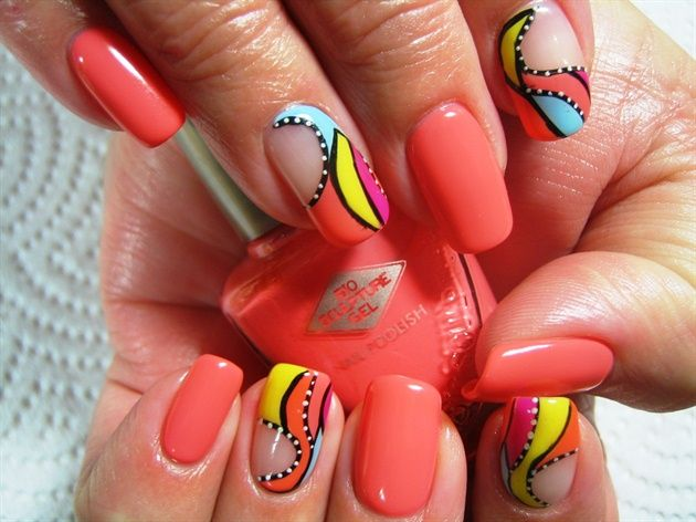 Abstract Swirls - Nail Art Gallery by NAILS Magazine