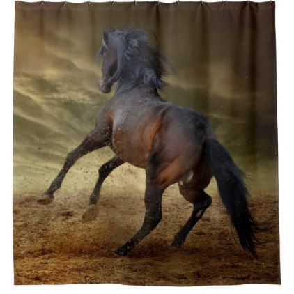 Bucking Wild Mustang Shower Curtain
