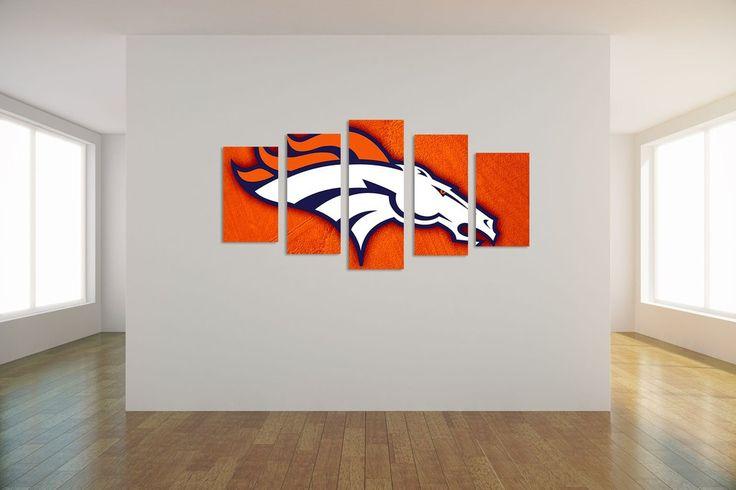 Denver Broncos 5 Piece Art