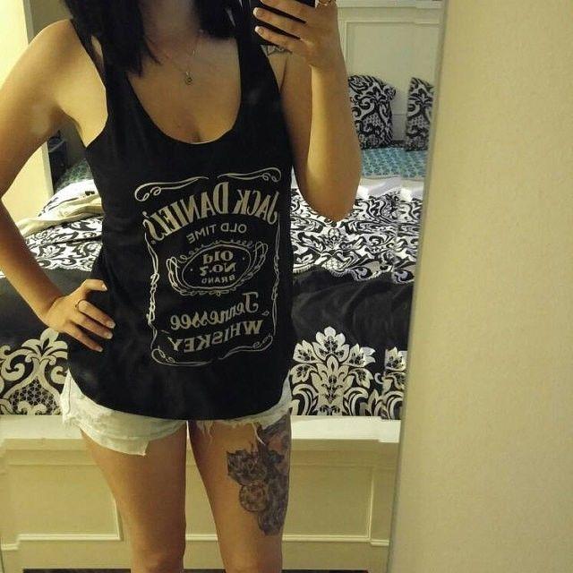Jack Daniels Black PREMIUM Tri-Blend Women Ladies Summer Top  #Unbranded #TankCami #Casual