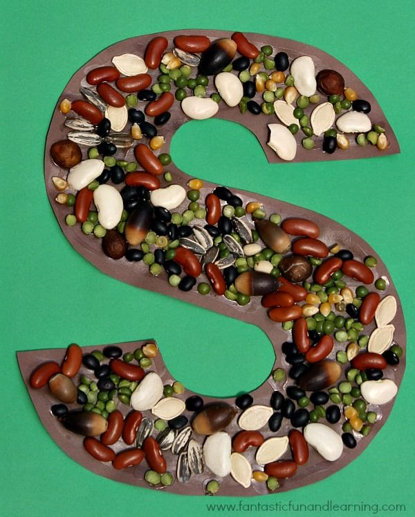 Letter S Craft...S is for Seeds! Also includes links to other S is for Seeds theme ideas.