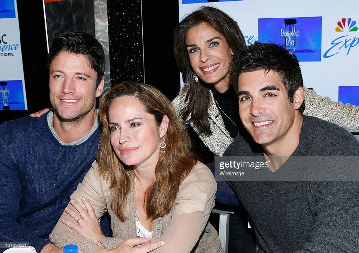 James Scott, Crystal Chappell, Kristian Alfonso and Galen Gering promote 'Days of Our Lives 45 Years: A Celebratioin in Photos' at the NBC Experience Store on February 25, 2011 in New York City.