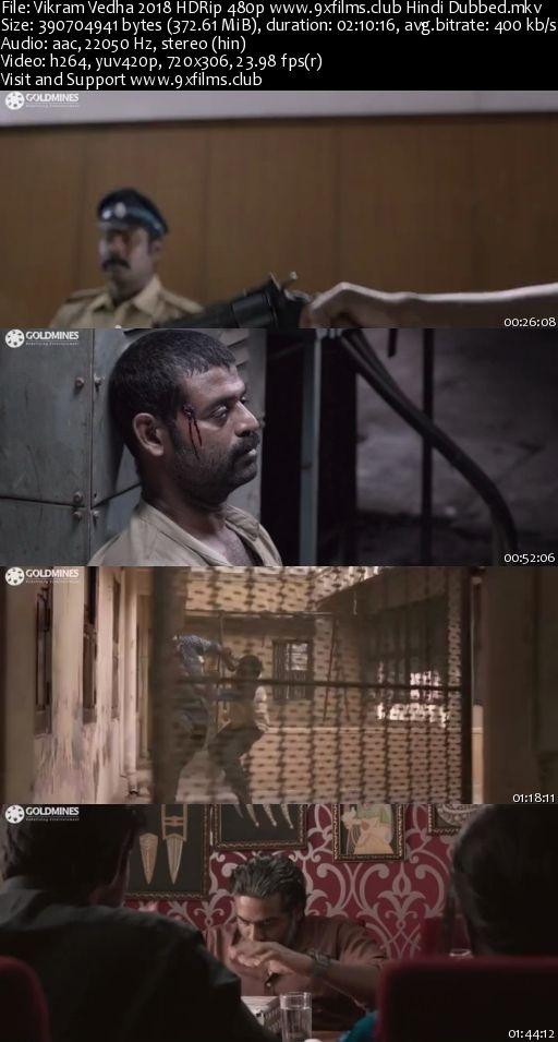 Vikram Vedha 2018 HDRip 480p Hindi Dubbed 300MB Watch