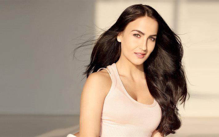 Télécharger fonds d'écran Elli Avram, portrait, actrice suédoise, belle femme, brune