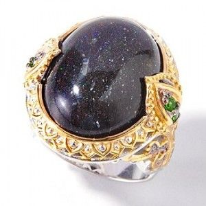 Black Opal - Marie Antoinette ring; looks like Lapis Lazuli to me, but *shrug* either way, it's beautiful. It looks like when you look up at the stars at night <3