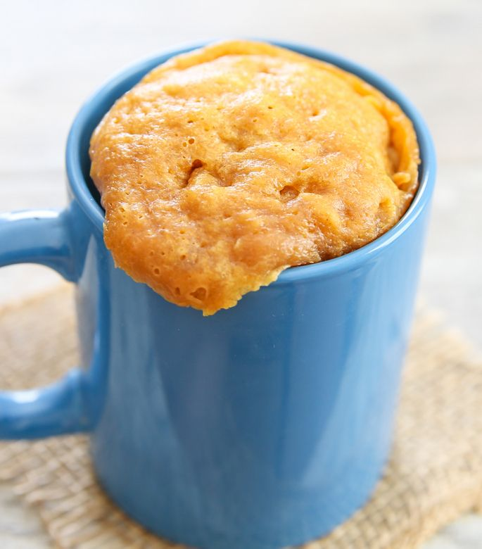 Peanut butter mug cakes mug cakes and 3 ingredients on for Cake recipe without butter