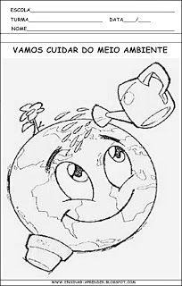 ATIVIDADES SOBRE O MEIO AMBIENTE | Cantinho do Educador Infantil