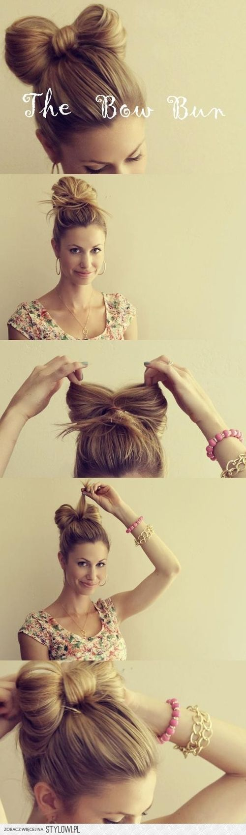 ❤️I love bow bun...they are so  cute!!
