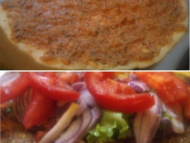 Pizza turque la viande hach e lahmacun turquie - Tastira cuisine tunisienne ...