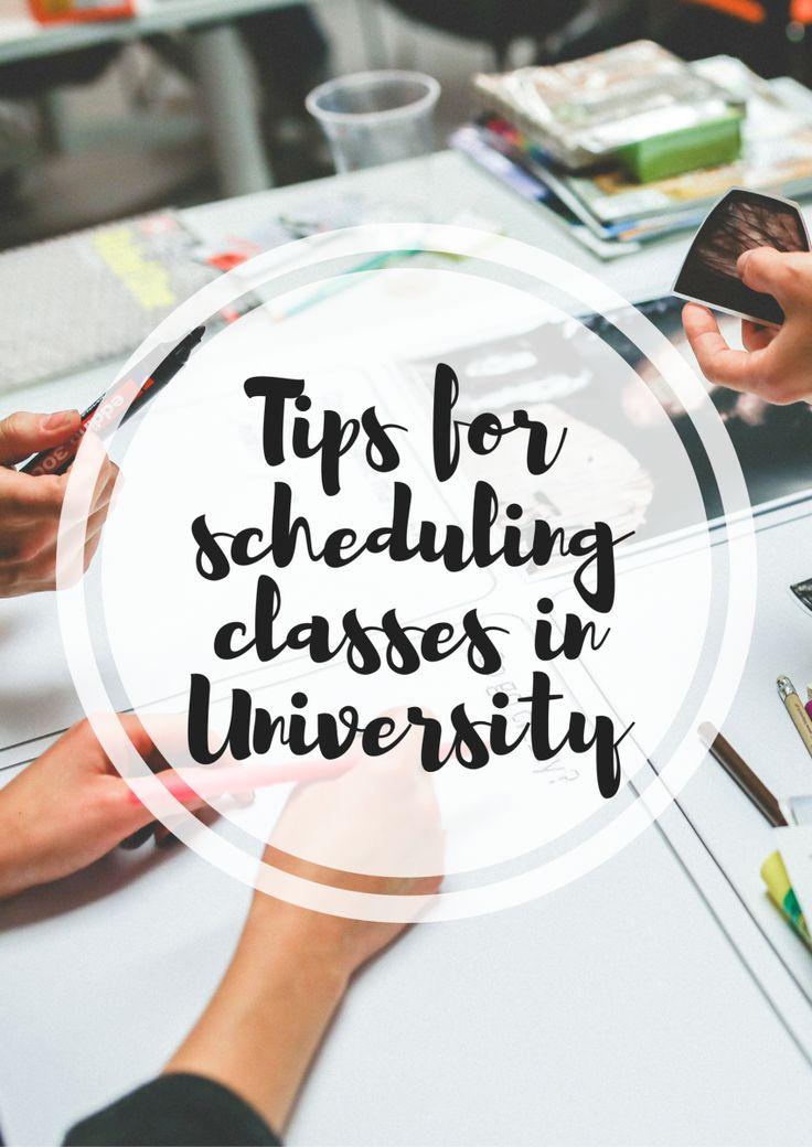 university class timetable tips