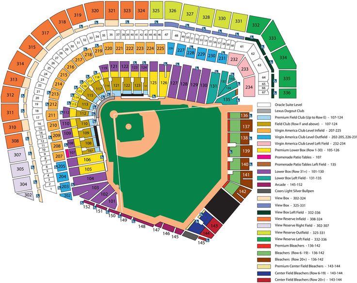 AT&T Park Seating Chart | MLB.com