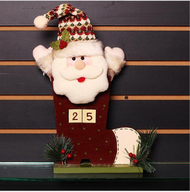 Aliexpress.com: Comprar Adornos Navidad 2017 Moda 20 cm x 35 cm De Madera muñecos De Navidad Santa Claus Muñeco de nieve de Navidad Regalos de Navidad Decoración para el Hogar de christmas decorations fiable proveedores en FENGCHAO Store
