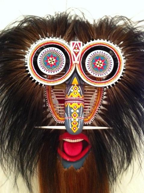 Torres Strait Islanders masked art
