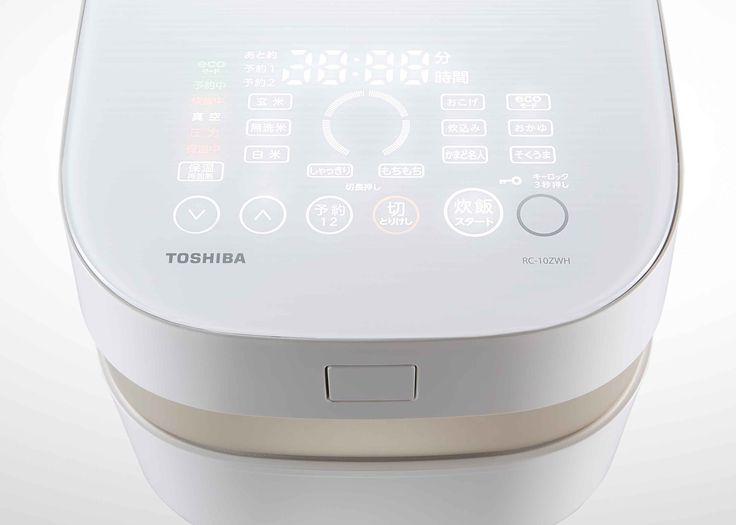 【炊飯器 RC-10ZWH】パネルにそっと触れると、必要なキーや表示が浮かび上がり、直感的で簡単な操作ができます。 http://www.toshiba.co.jp/living/rice_cookers/pickup/rc_10z/index_j.htm