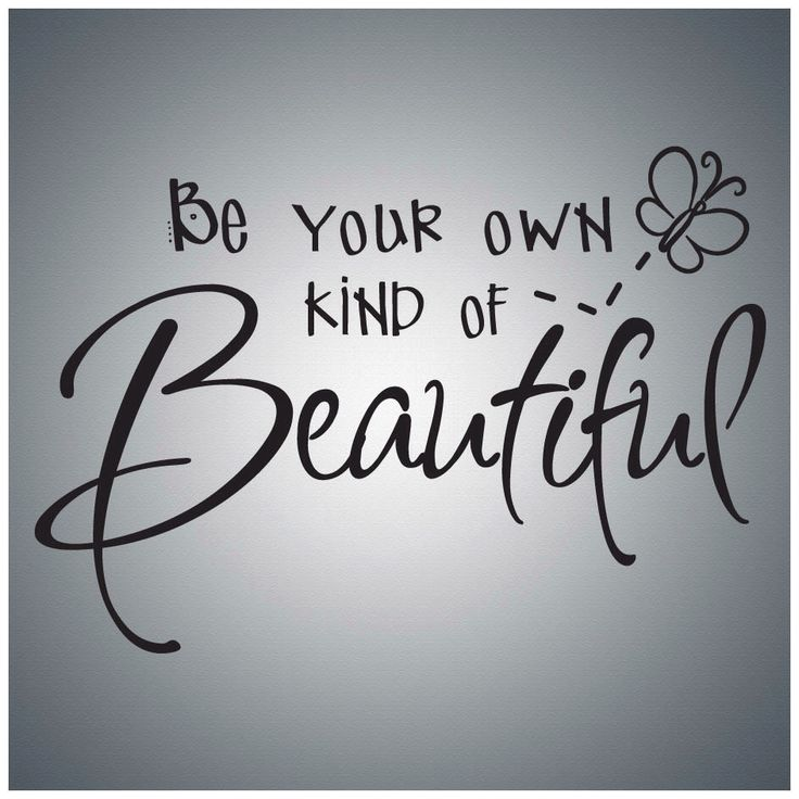 Be Your Own Kind Of Beautiful...Wall Quote Decal Vinyl Lettering Saying - BA011 by AtomicImprints on Etsy https://www.etsy.com/listing/150837958/be-your-own-kind-of-beautifulwall-quote
