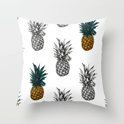 Pineapple Throw Pillow by Eloise Roberts - $20.00