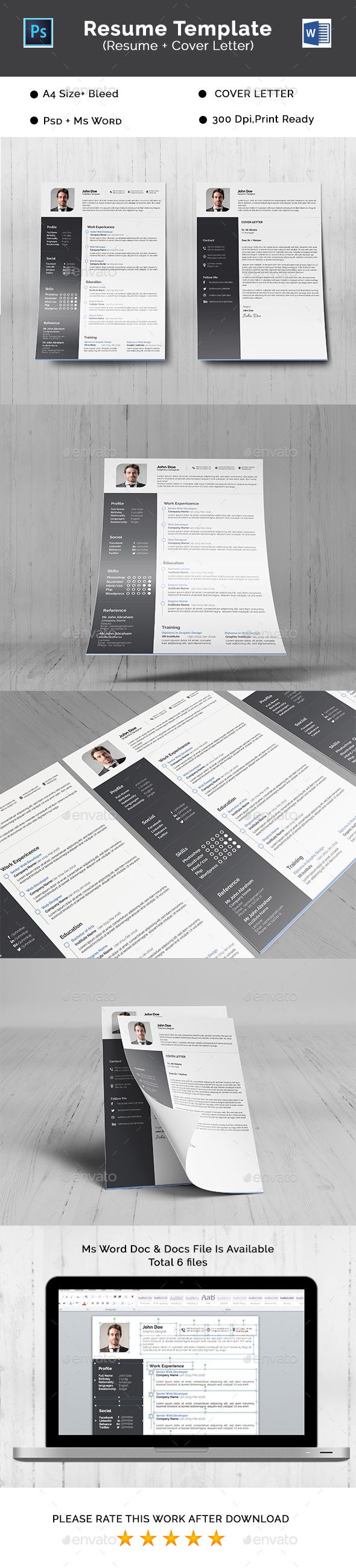 Best Creative Resume Template Images On   Font Logo
