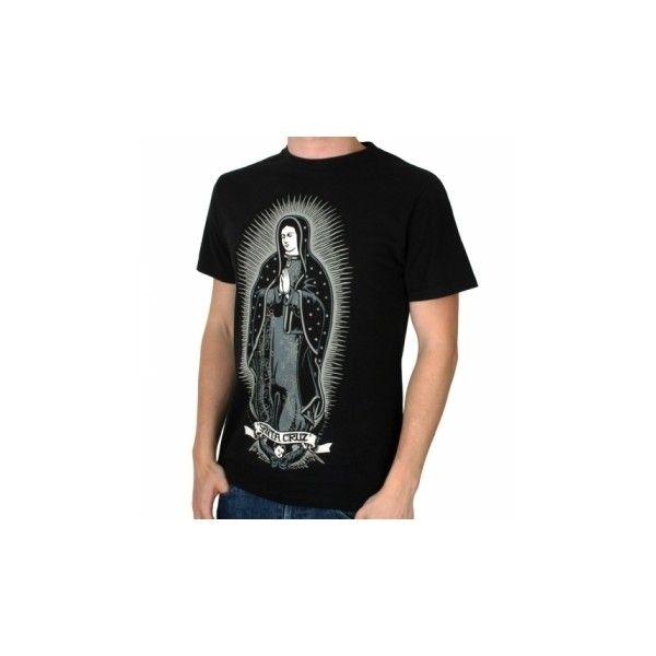 Santa Cruz Lady Guadalupe Tee Black   Santa Cruz T Shirts   Mens T Shirts ::UrbanSurfer.co.uk ($22) found on Polyvore