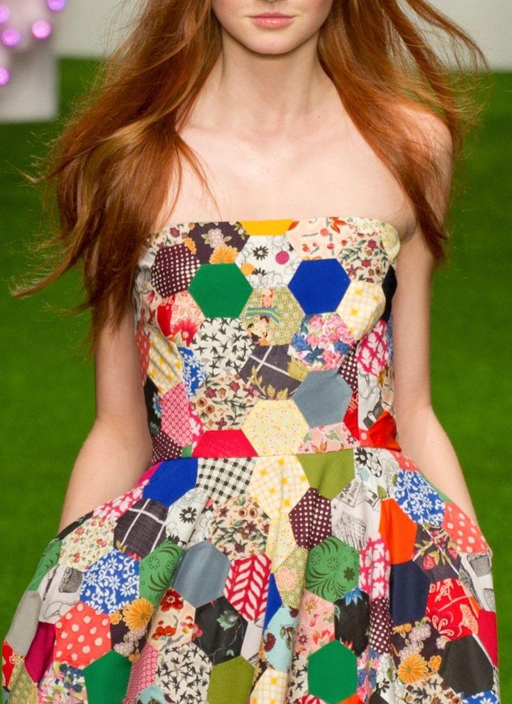 lovesHexagons Dresses, Dresses Quilt, Style, Patches Dresses, Dresses Design, Dreams Dresses, Quilt Dresses, Octo Patchwork Dresses, Dresses Lov