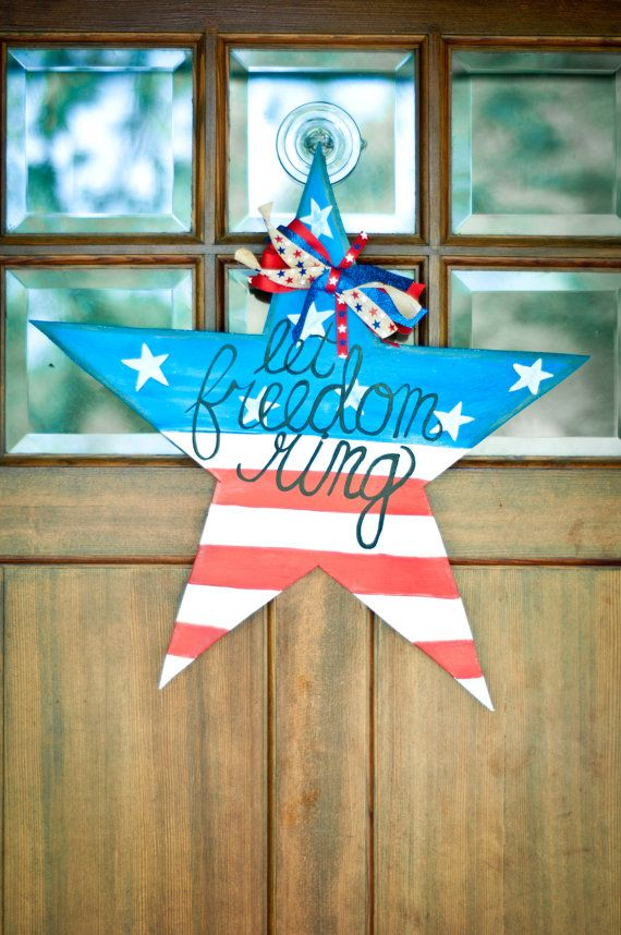 Wooden 4th Of July Door Hangers