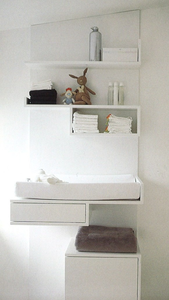 Simple contemporary changing table  #baby #baby care #nursery