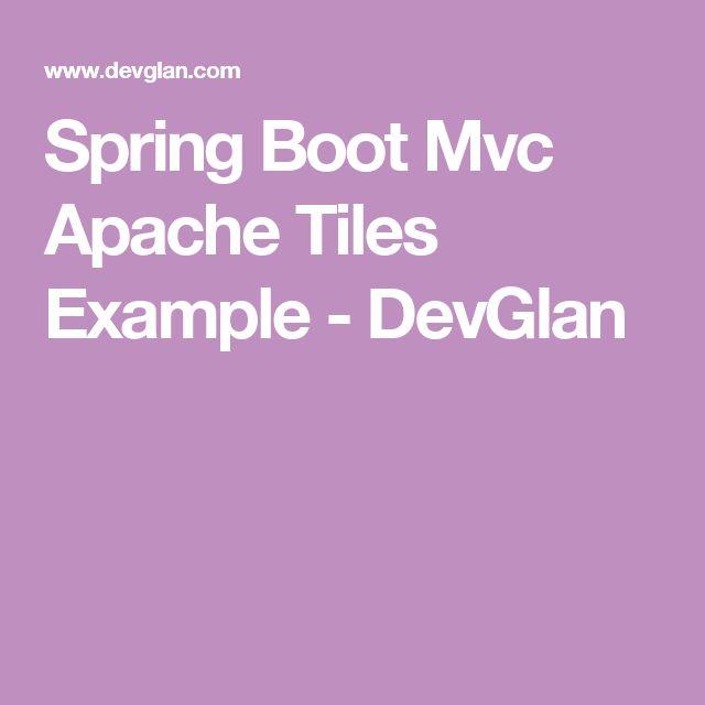 spring boot mvc apache tiles example devglan