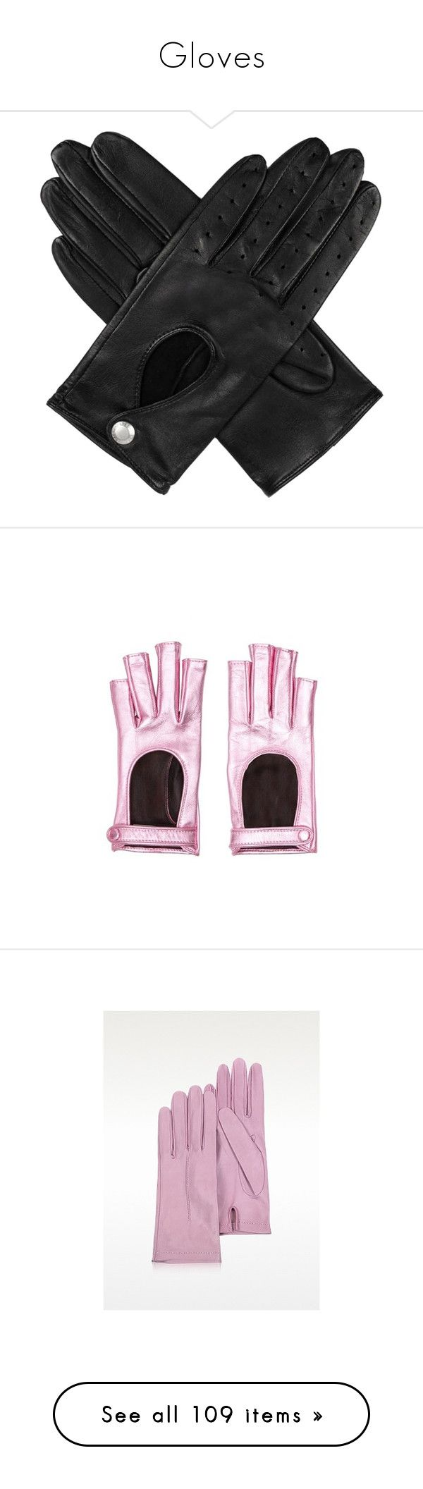 """Gloves"" by crossjaden on Polyvore featuring accessories, gloves, accessories - gloves, leather palm gloves, stretch leather gloves, dents gloves, stretch gloves, driving gloves, pink and pink gloves"