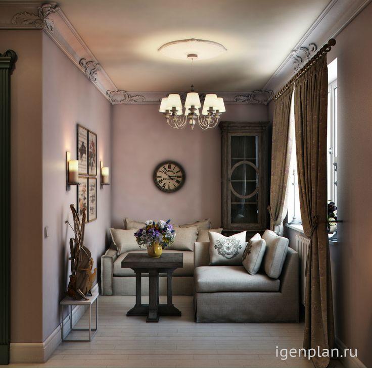 Небольшая гостиная во французском стиле. Приятная атмосфера отдыха и неспешного диалога за чашечкой чая. #дизайнинтерьера #igenplan #дизайнгостиной  #интерьергостиной
