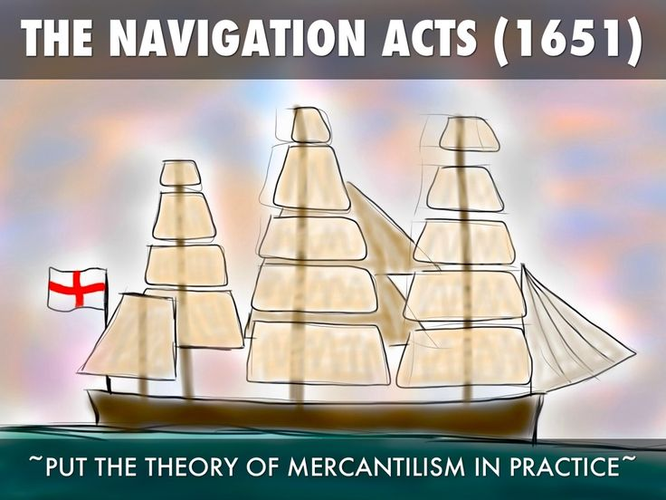 The Navigation Act of 1651 attempted to keep colonial trade in English hands by excluding Dutch and French vessels from American ports. It also required goods to be carried only on ships owned by colonial merchants or the English.