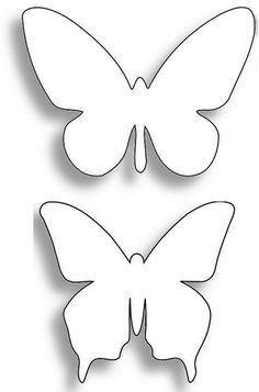DIY Moldes de mariposas