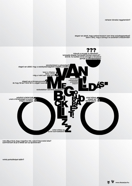 clever stuff from aron. illustrative typographic print of a biker... i wish i knew what it said