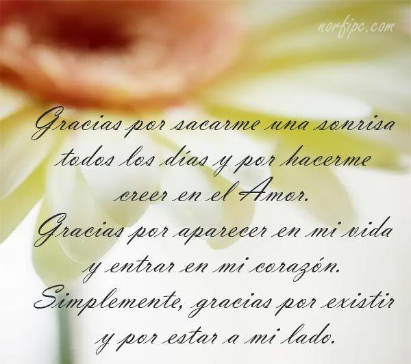 Mensajes De Afecto Y Ternura Para Agradecer A Mi Pareja Por Su Amor Gracias Por Todo Amor Amor Gracias Por Existir Amor