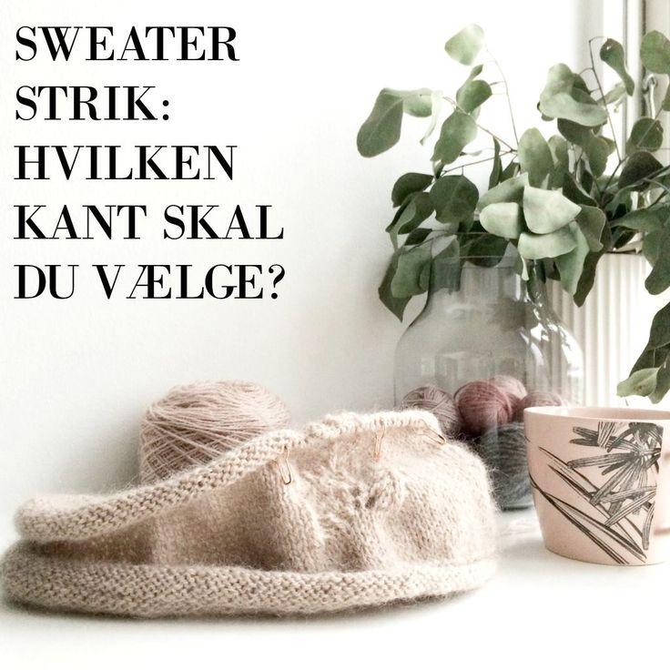 Kanten på din sweater – Frk Garn