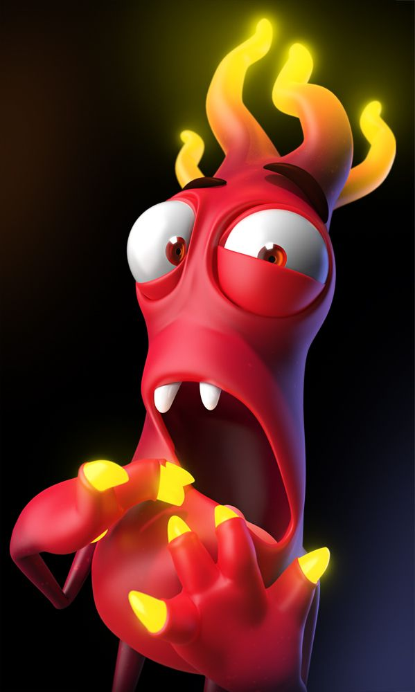 3D, cartoon, character, fireboy, funny ★ Find more at http://www.pinterest.com/competing/