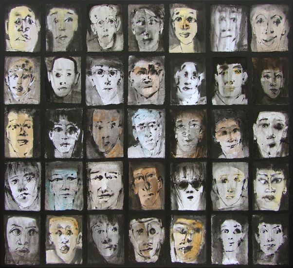 face to face (140x125) by Marjanne Beeuwkes
