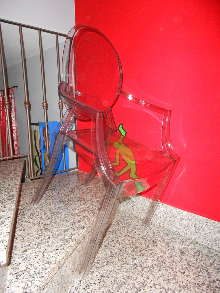 Louis Ghost by #kartell #design #red #chair
