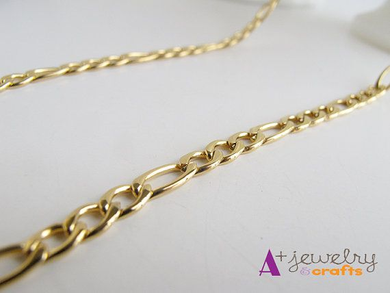 Gold chain necklaces gold chain link chain by APlusJewelryCrafts