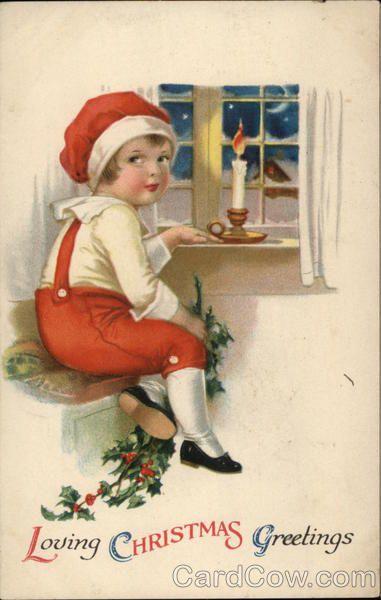 Loving Christmas Greetings Ellen Clapsaddle Children