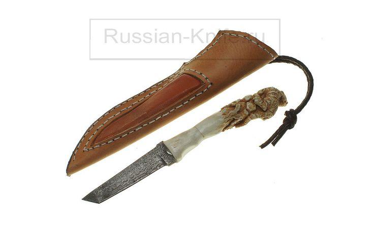 """Нож """"Тигр"""". Дамаск, рог лося, кожа. """"Tiger"""" knife. Damascus, antler, leather. #купить #авторский #нож #ручной #работы #ножи #изготовление #охотничьи #тактические #оружие #ножик #эксклюзив #ручнаяработа #подарокмужчине #мачете #ножны #холодное #knife #knives #customknives #handmade #knifecommunity #knifecollection #weapon #giftforhim #machete #blade #blades #hunting #survival"""