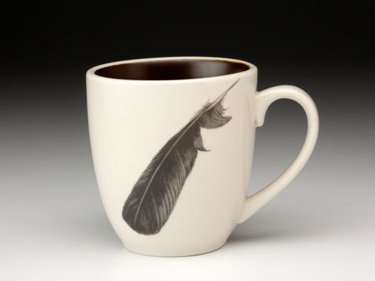 Feather Mugs by Laura Zindel