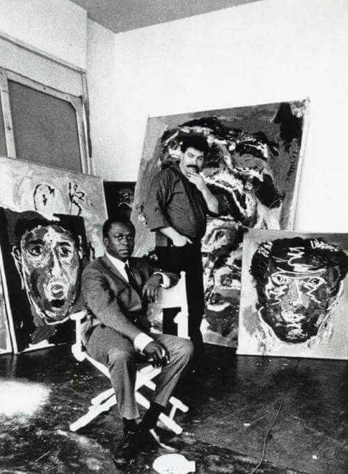 Miles Davis and Karel Appel