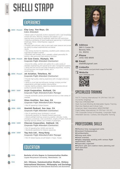 9 best Cabin Crew \/ Flight Attendant résumé templates - CV Word - sample flight attendant resume
