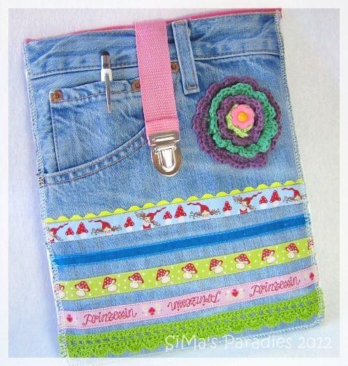 ... man nehme:   ♥ eine sehr alte verwaschene jeans des   besten göttergatten   ♥ ein stück gurt eines nicht mehr geliebten   kinderruc...