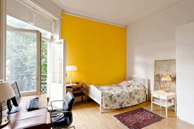 Yellow Accent Wall Must Do This In My Apt Yellow Accent