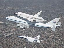 Transbordador espacial Endeavour. El Endeavour transportado en 2012.