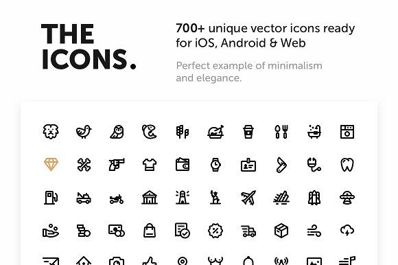 700+ Premium Vector Icons by The Icons on @creativemarket