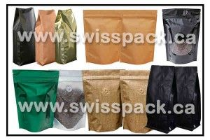 Stock coffee bags with Valve  Visit http://www.swisspack.ca/stock-coffee-bags-with-valve/