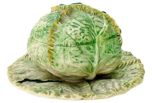 Italian Majolica Cabbage Tureen